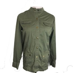 JM Collection Military Utility Style Jacket Green